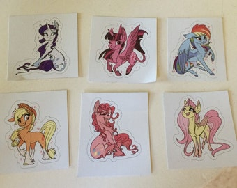MLP Mane 6 Sticker