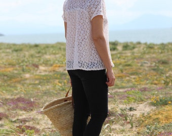 Top lace, high woman in lace, lace top, Top loose lace