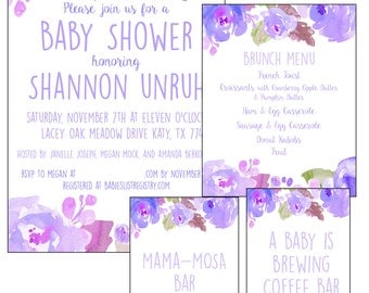Sweet Lavender Invitation Set with Signs