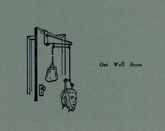 Get Well Soon Letterpress Card