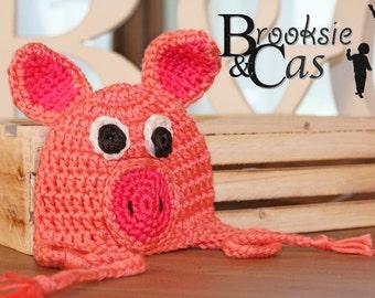 The Pig Handmade Crochet Infant Toddler Child Teen Adult Hat