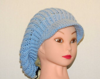 Light Blue Brimmed Slouchy Pattern