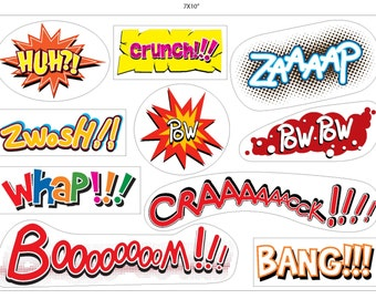 Comic book explosion stickers 1