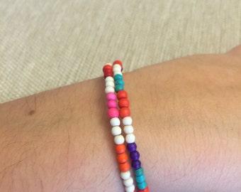 Colorful beach wrap bracelet