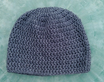 Solid Crochet Beanie newborn to adult