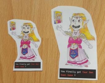 Legend of Zelda stickers - Zelda's own game
