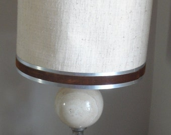 Maison Jansen Travertine Table Lamp