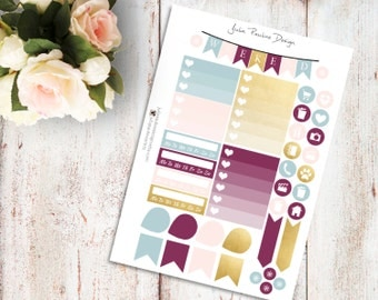 Planner Stickers for the vertical Erin Condren Life Planner - Windy Kit Functional Icons Sheet
