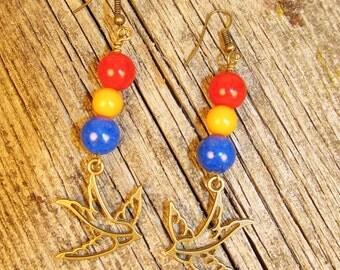 Boho Swallow Earrings-10.00