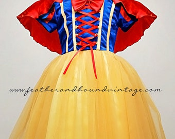 Snow White Inspired Dress + Cape