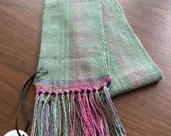 Lightweight handwoven scarf