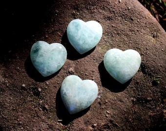 Aquamarine crystal heart