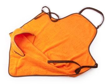 Free Deliver!/ Baby Bath Apron Towel / Baby Apron Towel/ Baby Bath Apron / Bath Apron / Bath Apron Towel / Cotton Apron Towel