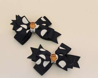 Owl Pair of Bows (Free Shipping in US)