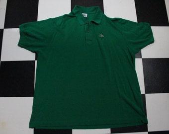 Vintage 80s Green Lacoste Sz 8 XL Golf Polo Ringer Tshirt