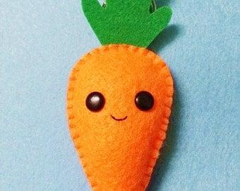 Kawaii Carrot Felt Keychain