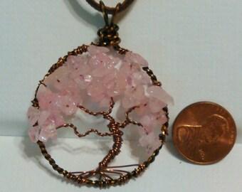 Rose Quartz Tree of Life