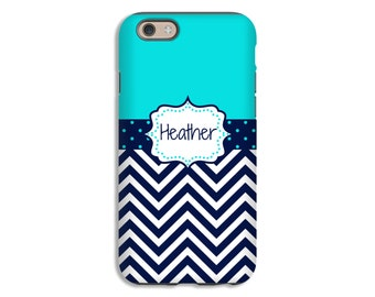 Chevron iPhone 7 case, navy iPhone 6s Plus case, personalized iPhone 6s case, iPhone 6 Plus case/6 case, iPhone SE case, matte iPhone cases