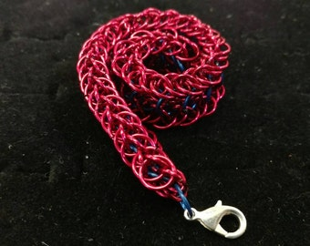 Red/Blue Chainmaille bracelet