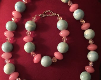cottoncandy Necklace and Bracelet Set
