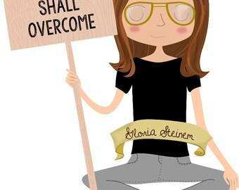 Feminist Plush Gloria Steinem