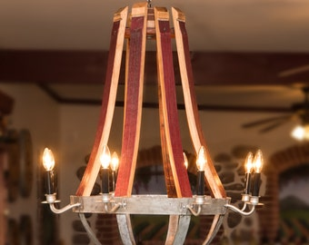 1032 Wine Barrel Chandelier