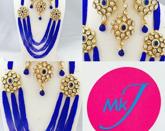 Necklace, Earrings and Tikka Set