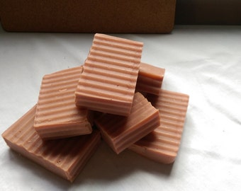 Rose clay and sandalwod cold process soap