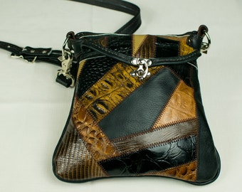 Caiman and Lizzard Purse
