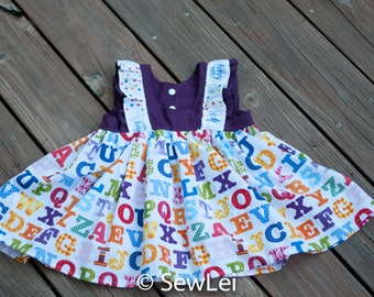 CUSTOM Baby Tunic Top, summer top, back to school, toddler tunic