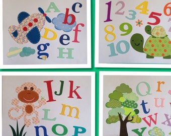 Nursery Letters Nursery Alphabet Wall Letter for Kids Room, Nursery Room Letters Baby Shower Birthday Party Birthday Gift ABC 123 Numbers