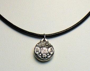 Little silver bat pendant