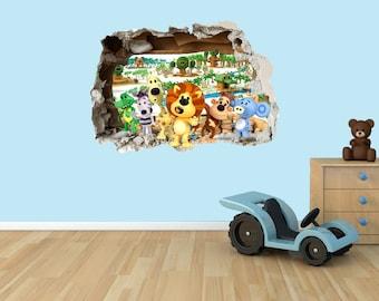 Raa Raa the noisy lion 3D Effect Graphic Wall Vinyl Sticker Decal