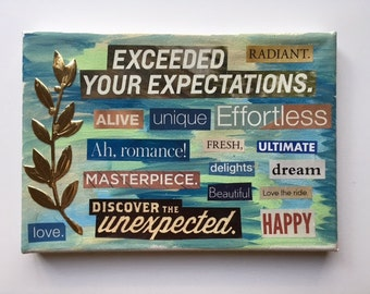 "Word Collage ""Exceed Expectations"""