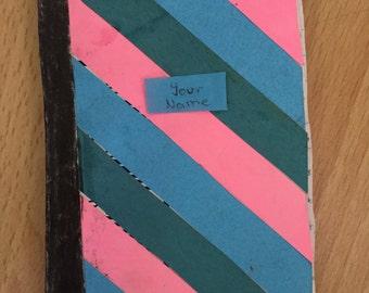 Striped Mini Composition Book