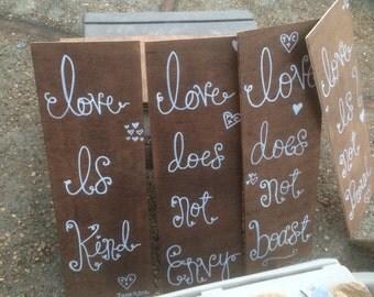 Wedding signs bible verse