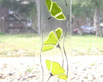 Yellow Floral Fused Stained Glass Suncatcher