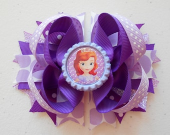Disney Sofia The First Handmade Boutique Layered Hair Bow