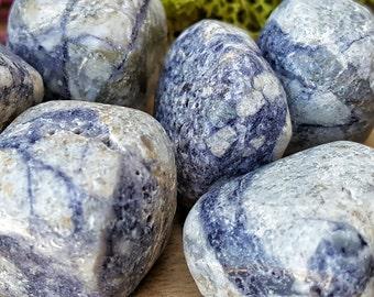 Purple Charoite Crystal Tumbled Stone -  Pocket Palm Stone 125