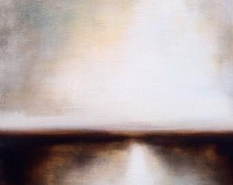 Light River Rebounds. Landscape Painting by Michelle Tholen