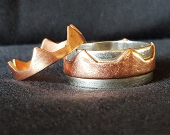 His and Hers: King and Queen Ring Set