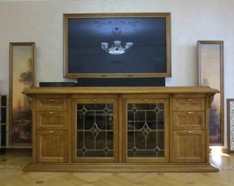 TV table made from solid oak.