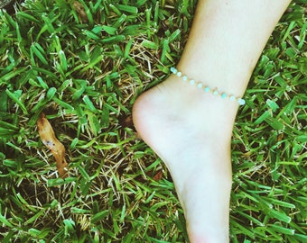 The Taylor-- Beaded Anklet