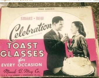 On Sale Fabulous Vintage Toasting Glasses