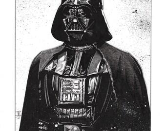 Darth Vader Original Pen and Ink Drawing