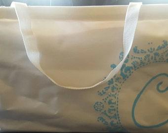 Rectangular Canvas Initial Bag
