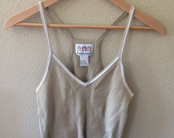 Vintage knitted cropped top/Small to medium