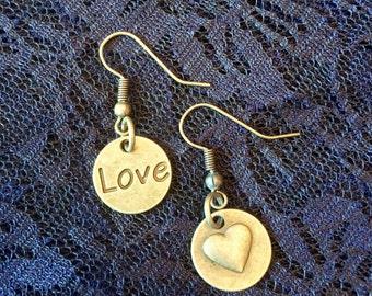 Love and Heart Earrings