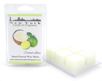 Coconut Lime Wax Melts -- HIGHLY Fragrant -- New York Candle & Fragrance