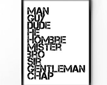 Wall Art For Men wall art printable man cave art printable art men wall
